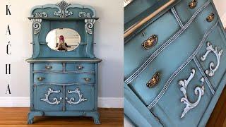 Annie Sloan Chalk Paint Tutorial / Vintage Dresser