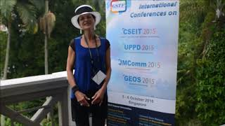 Dr. Lin Allen at JMComm Conference 2015 by GSTF Singapore