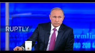 LIVE: Vladimir Putin holds annual 'Direct Line' Q&A in Moscow - ENGLISH