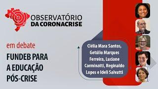 #AOVIVO | Fundeb para a educação pós-crise | Observatório da Coronacrise