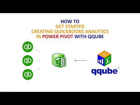 Creating Quickbooks analytics in Excel Power Pivot using QQube