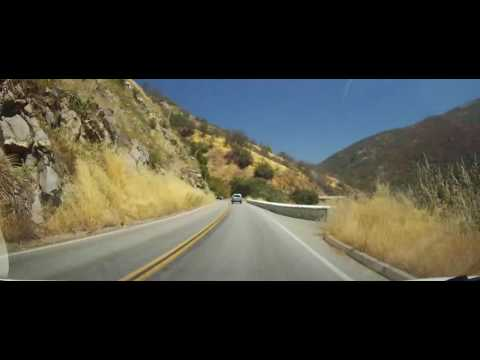 Driving Through Sequoia National Park - California