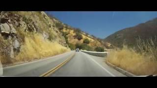 Driving Through Sequoia National Park - California