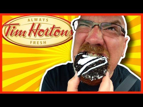 Tim Hortons OREO Donut Review & Drive Thru Experience