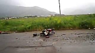 Разбился на мотоцикле