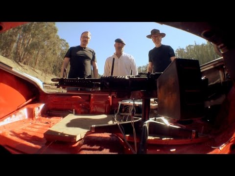 Mythbusters test Walter White's homemade autonomous machine gun from the series finale of 'Breaking Bad'