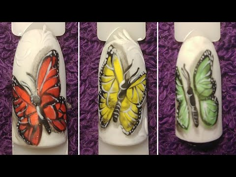 2d/3d Butterfly Nail Art Tutorial