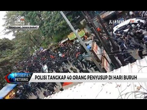 Polisi Tangkap 40 Orang Penyusup Demo Buruh di Bandung