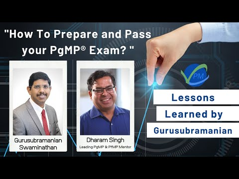 How To Prepare and Pass your PgMP® Exam   PgMP® Lessons ...