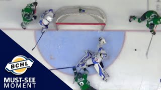 Must See Moment: Kaeden Lane reaches back and takes away a goal with the glove