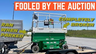 I Bought A *WORKING* Scissor Lift From The Auction But They LIED... It Doesn't Work