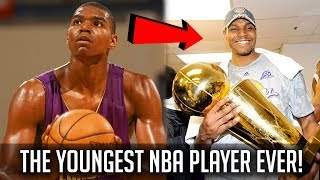 The YOUNGEST NBA Player EVER! - 17 Years Old!