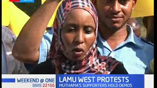 Residents protest nullification of Lamu West MP Stanley Muthama's win
