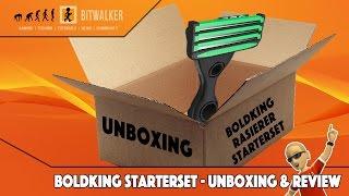 BOLDKING Rasierer Starterset UNBOXING und erste Rasur REVIEW
