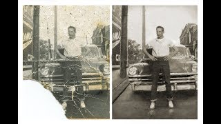 "A Severely Damaged Photo Restoration (enlarged From 2""x3"" To 5""x7"")"
