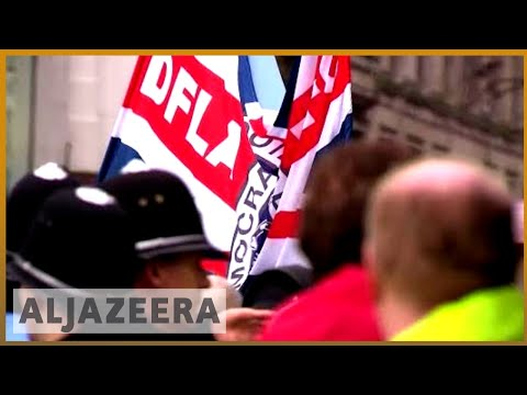 🇬🇧 Football Lads Alliance march in Birmingham draws protests |Al Jazeera English