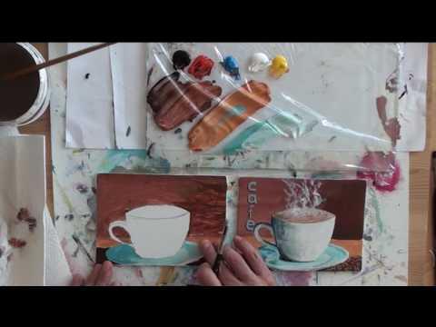 10-Minuten-Malerei: Kaffee-Tasse