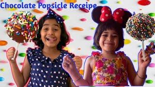 Chocolate Popsicles I Fireless Cooking I Kids Cooking recipe I Easy Kids Cooking I Ria and Jini Show