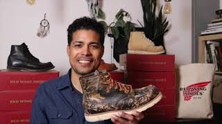 Red Wing 8884 Camouflage Moc Toe in Mossy Oak Leather