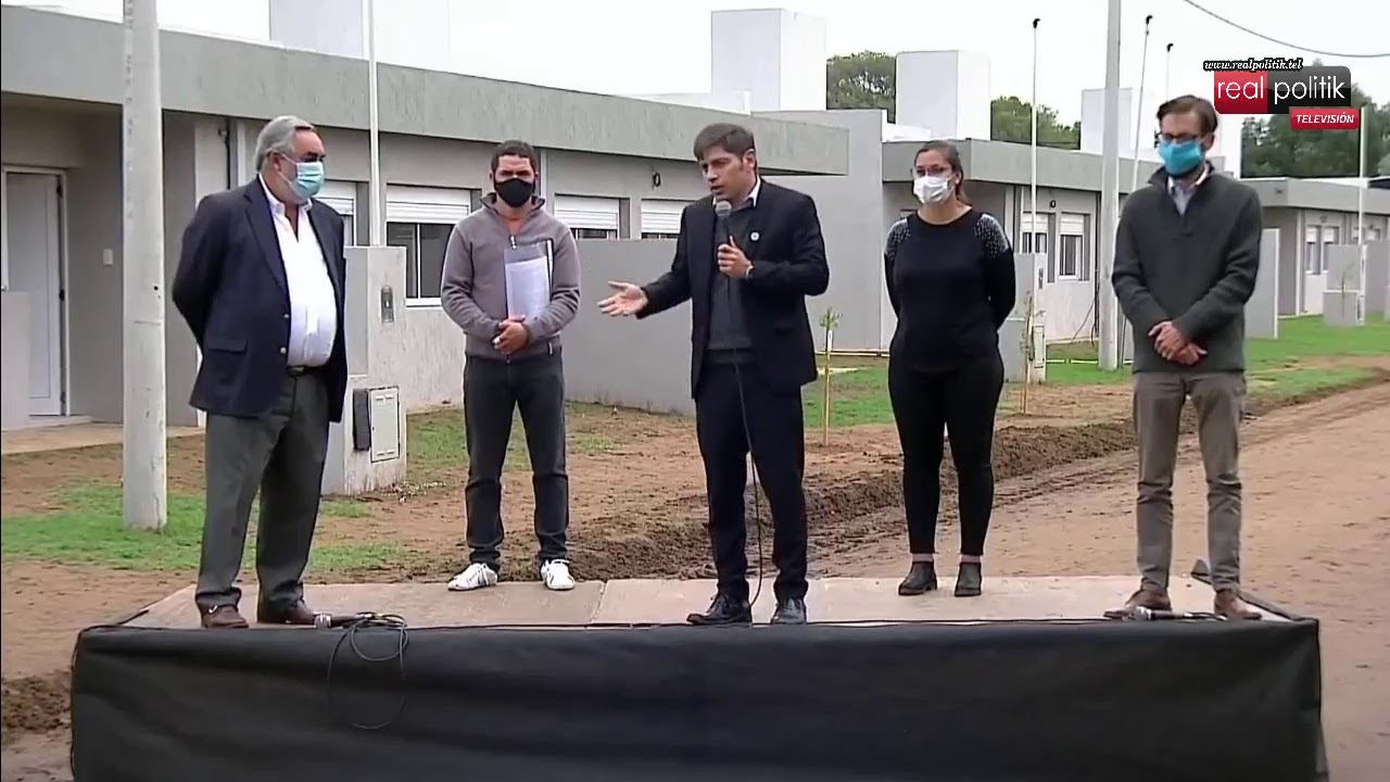 Trenque Lauquen: Kicillof entrega viviendas construidas por la AMOC