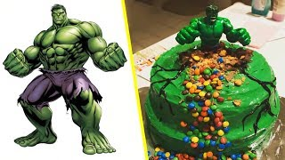 Superheroes Characters As Cakes