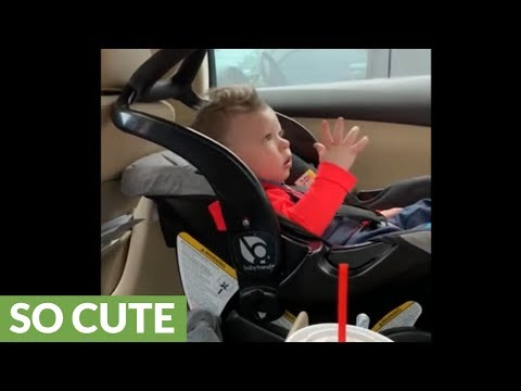Baby boy rocks out to his favorite song
