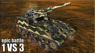 ГРАМОТНЫЙ АРТАВОД ЗАТАЩИЛ БОЙ 🌟 8 фрагов 🌟 World of Tanks лучший бой на арте М40/М43