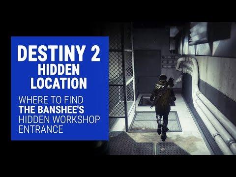 Destiny 2 - Banshee's hidden workshop entrance location for The Back Way quest