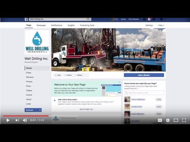 Facebook Setup and Support Video