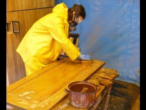 Farbe, Lack von Holz entfernen: Teil 1a: Laugen, Ablaugen mit Ätznatron, Natronlauge