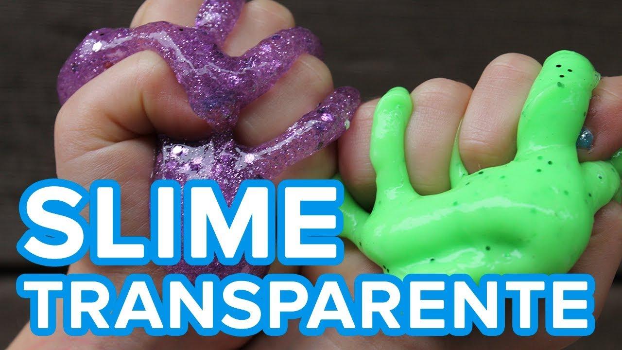 Cómo hacer slime casero   Slime sin bórax y transparente para niños