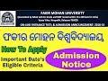 Fakir Mohan University Balasore Admissions 2018 2019 FM University PG M Phil Admission 2018