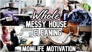 EXTREME! Messy Whole House Clean With Me 2019 | All Day Cleaning | SAHM Motivation