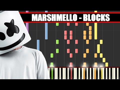 IMPOSSIBLE REMIX : MARSHMELLO - BLOCKS || SYNTHESIA PIANO