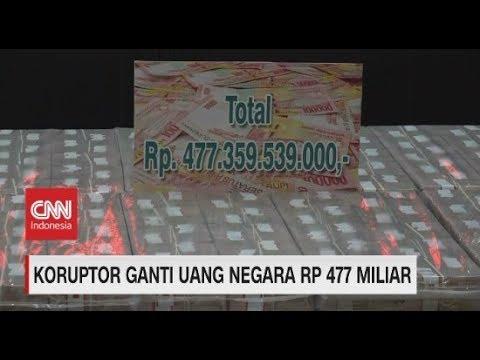 Ini Penampakan Uang Rp 477 Miliar Hasil Korupsi Kokos Lim yang Dikembalikan ke Negara