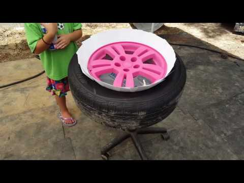 Chevy sonic pink to blue rims