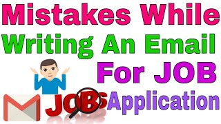 how to write an email for job application | write a mail for Job application