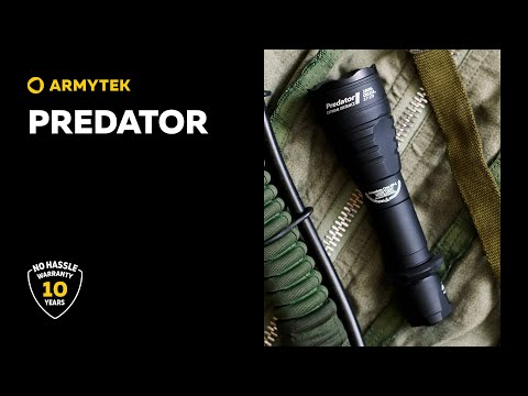 Predator — powerful flashlight for hunting with simple operation