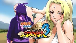 Naruto SUN Storm 3: Sasuke (Kimono) VS Tsunade (Swimsuit) (Live Commentary)