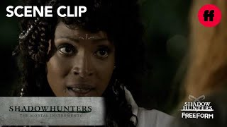 Shadowhunters | Season 2, Episode 6: Izzy Spying on Clary and Cleophas | Freeform
