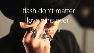 Adam Lambert - Love wins over glamour[LYRICS ON SCREEN]