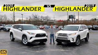 WORTH THE UPGRADE??   2020 Toyota Highlander vs. 2019 Toyota Highlander: Comparison