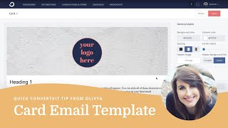 How To Customize The Card Email Template In ConvertKit