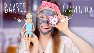 Barbie & GlamGlow   Распаковка куклы и обзор косметики