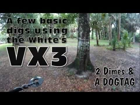 White's VX3 - A few basic digs - Metal detecting