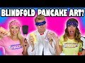 Blindfold Pancake Art Challenge Can We Make Art with Our Eyes Closed? Totally TV