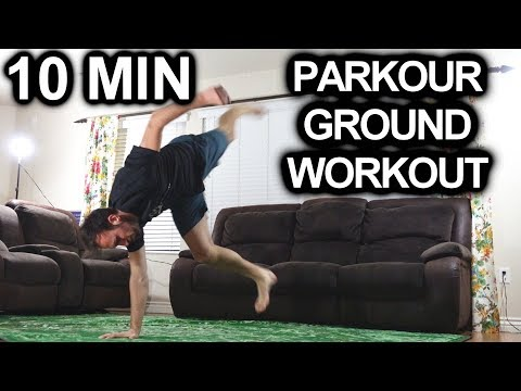 10 Minute Parkour Workout | Ground Exercises | Training At Home ...