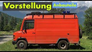 VORSTELLUNG MB 609 CAMPER - alle Anbauteile = Dachträger + Ersatzradhalterung + Reifen