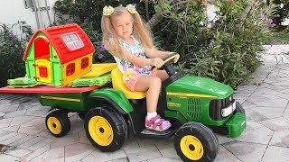 Roma and Diana Pretend Play with toys and Playhouse Top Videos by Kids Roma Show!