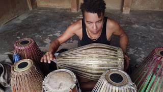 "Drum & Dance ""freestyle""  - KIRTANIYAS (Vijay Krsna & Malini Taneja) - Vrindavan 2019"